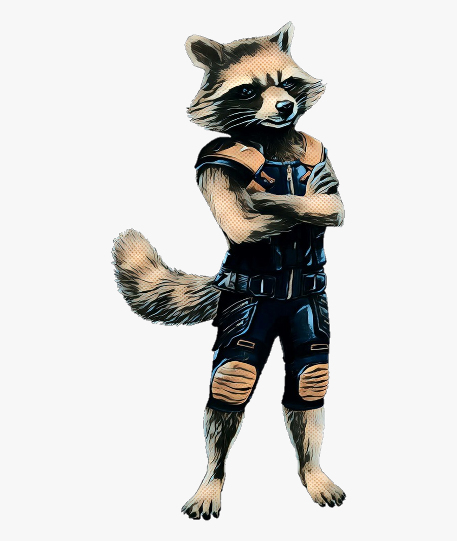 Rocket Raccoon Groot Gamora Portable Network Graphics - Rocket Standing Guardians Of The Galaxy, Transparent Clipart