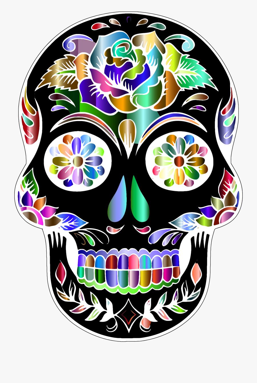 Sugar Skull Transparent Background - Sugar Skull No Background, Transparent Clipart
