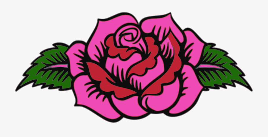 Garden Roses Floral Design Pink Day Of The Dead - Day Of The Dead Flower Designs, Transparent Clipart