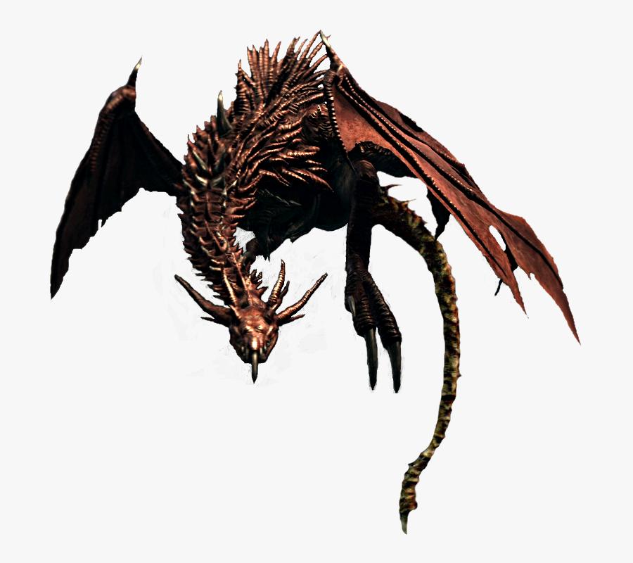 Dark Souls Wiki - Dark Souls Dragon Png, Transparent Clipart