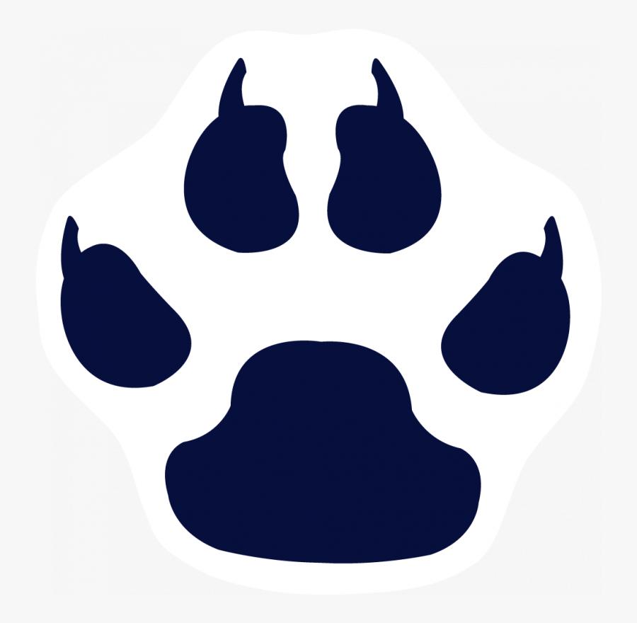 Transparent Tiger Print Png - Clip Art Cat Paw Print, Transparent Clipart