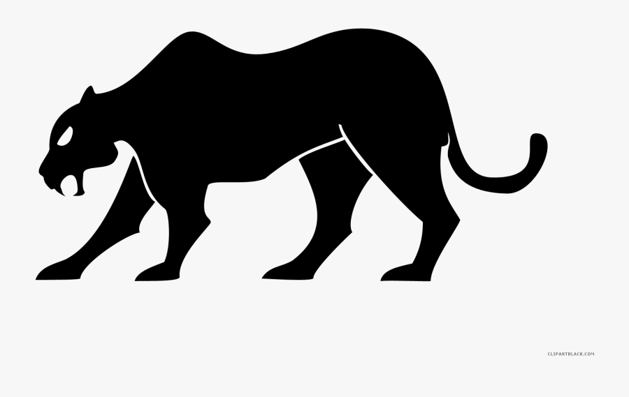 Black Panther Animal Free Black White Clipart Images - Transparent Background Panther Clipart, Transparent Clipart