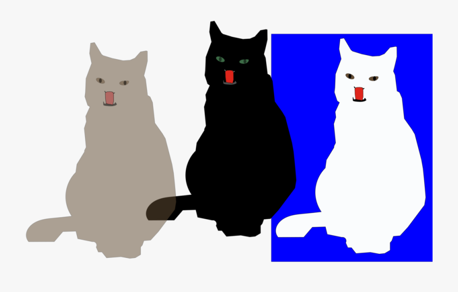 Black Cat,paw,small To Medium Sized Cats - Cat, Transparent Clipart