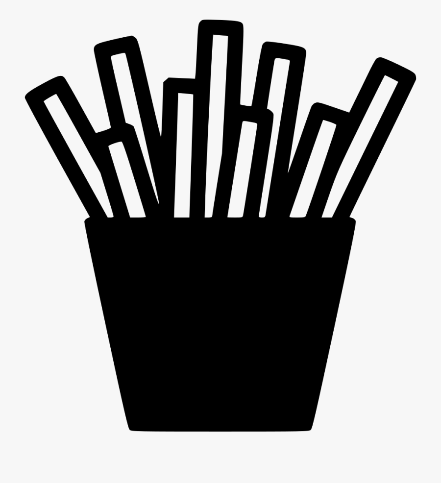 Fries Potato Fast Chips Fry Dish Svg Png Icon Free - Fried Potato Logo Png, Transparent Clipart