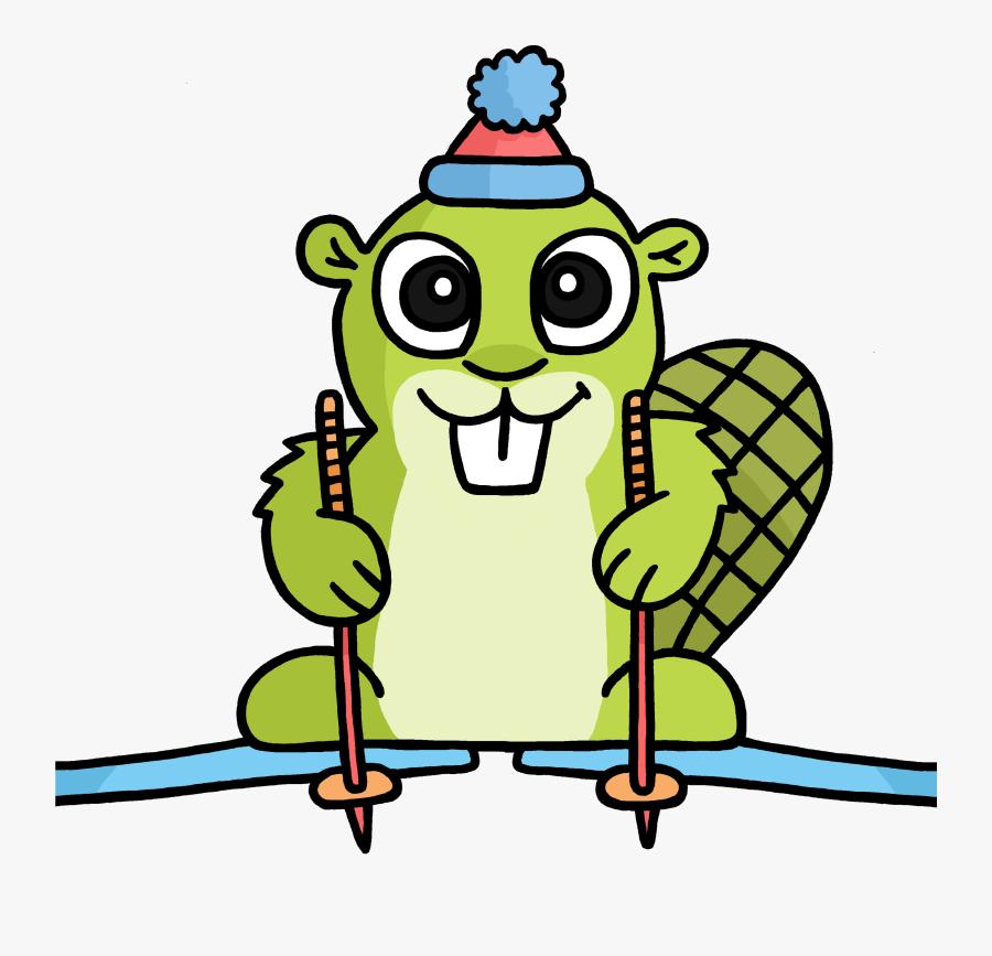 Ski Adsy Clip Arts - Adsy Beaver, Transparent Clipart
