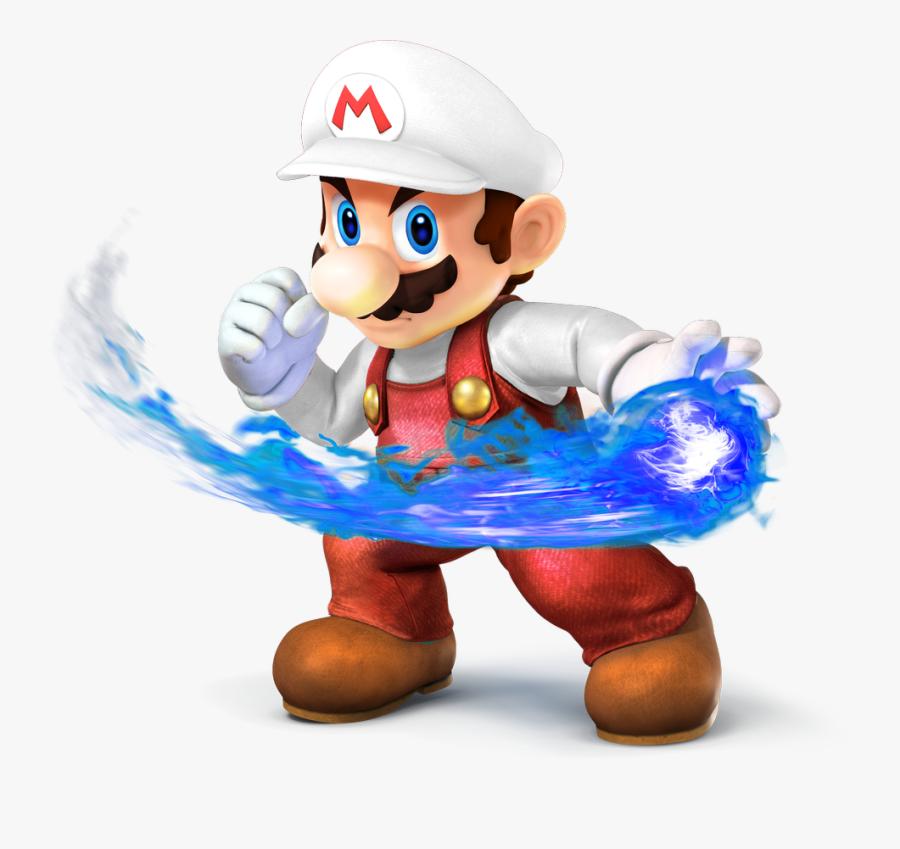 Mario Clipart Blue Fireball - Super Smash Bros Fire Mario, Transparent Clipart