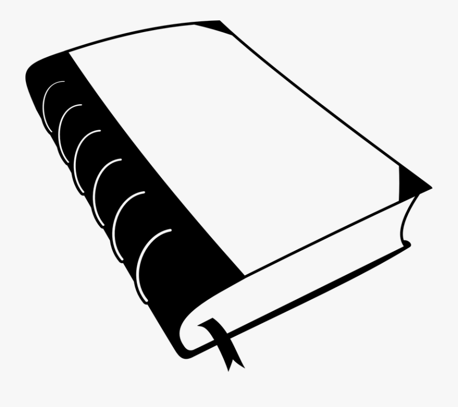 Closed Book Cliparts - Book Clipart Black And White, Transparent Clipart