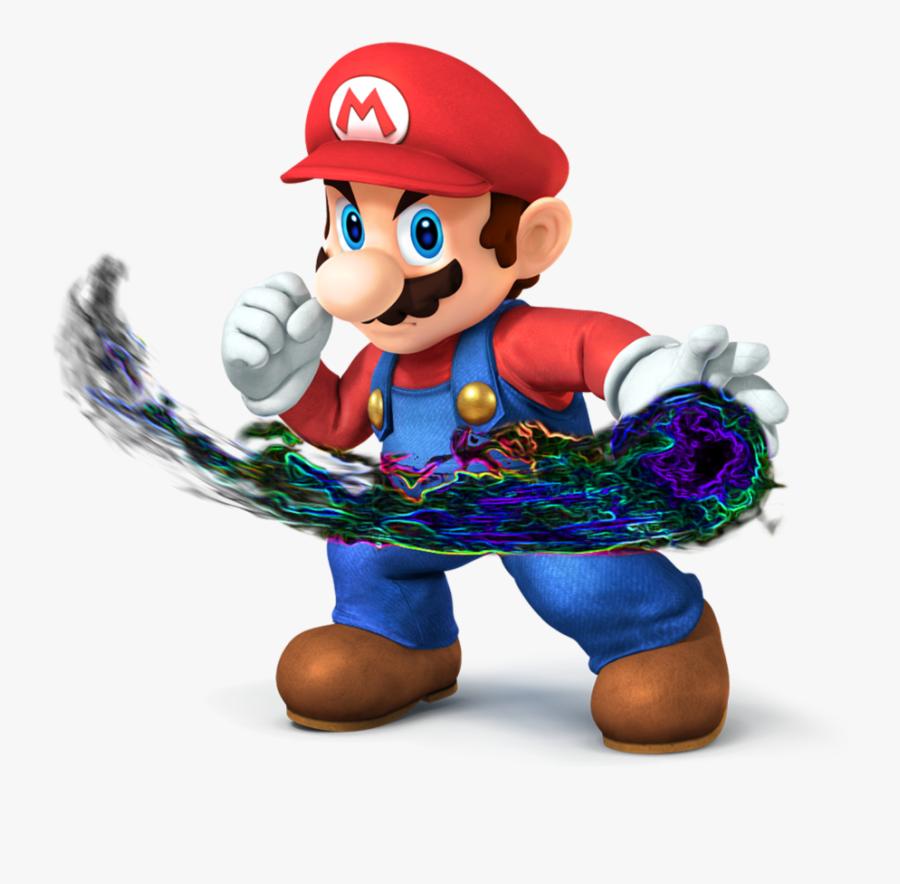 Ssb4 Mario Neon Fireball [transparent] By Mario497 - Super Smash Bros Mario Trophy, Transparent Clipart