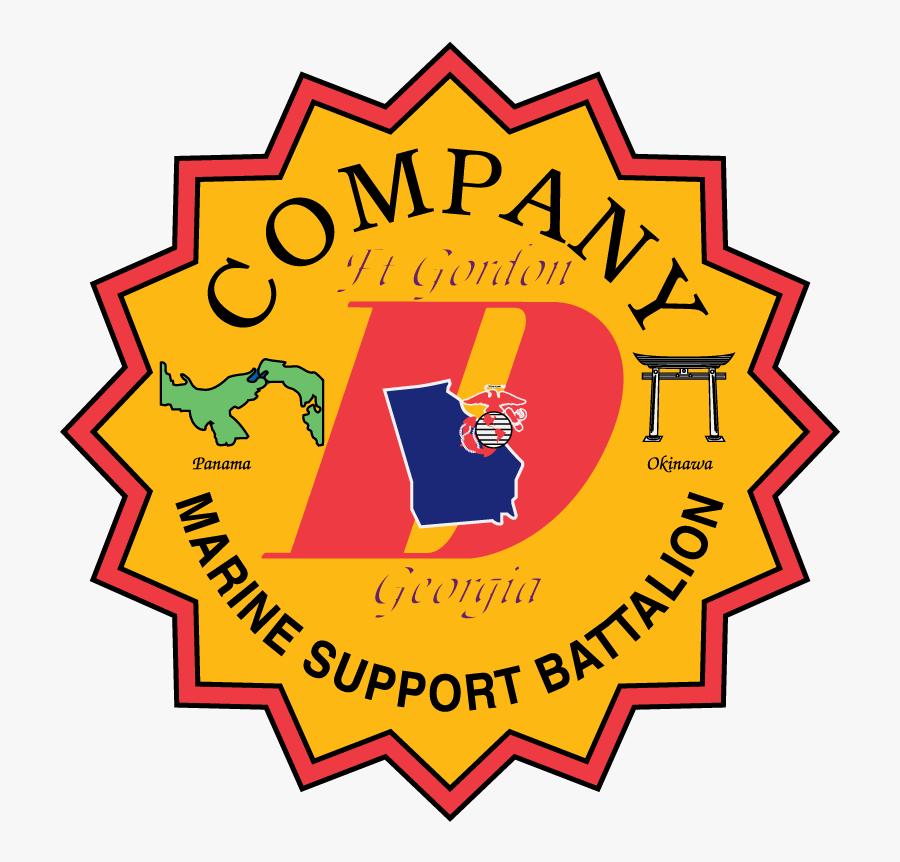 Company D Georgia Marine Support Battalion - Best Choice Sticker Transparent, Transparent Clipart