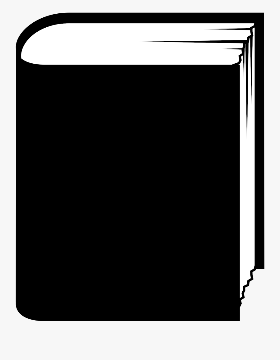 Book Generic Standing Graphic Black And White Stock - Clip Art Black Book, Transparent Clipart