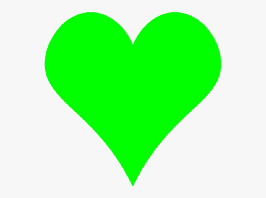 Heart-shaped Clipart Plain - Heart Shape Color Green, Transparent Clipart
