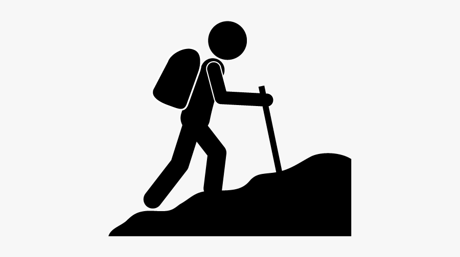 Mountaineering Computer Icons Climbing Clip Art - Climbing A Mountain Clipart, Transparent Clipart