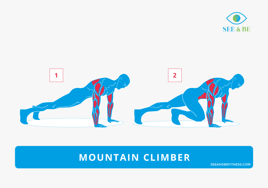 Clip Art Mountain See Be Fitness - Push Ups To Row Muscles, Transparent Clipart