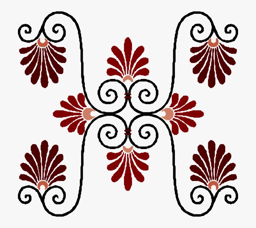 Vintage Art Deco Design - Art Deco Plant Pattern, Transparent Clipart