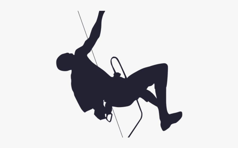 Mountain Climber Silhouette - Free Climber Transparent Background, Transparent Clipart