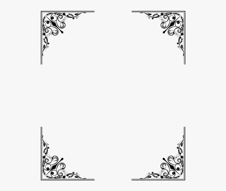 Transparent Dark Border Png - Fancy Black Border Transparent, Transparent Clipart