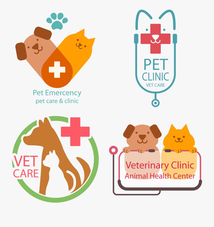 Cat Logo Veterinary Veterinarian - Vet Logo Flat, Transparent Clipart