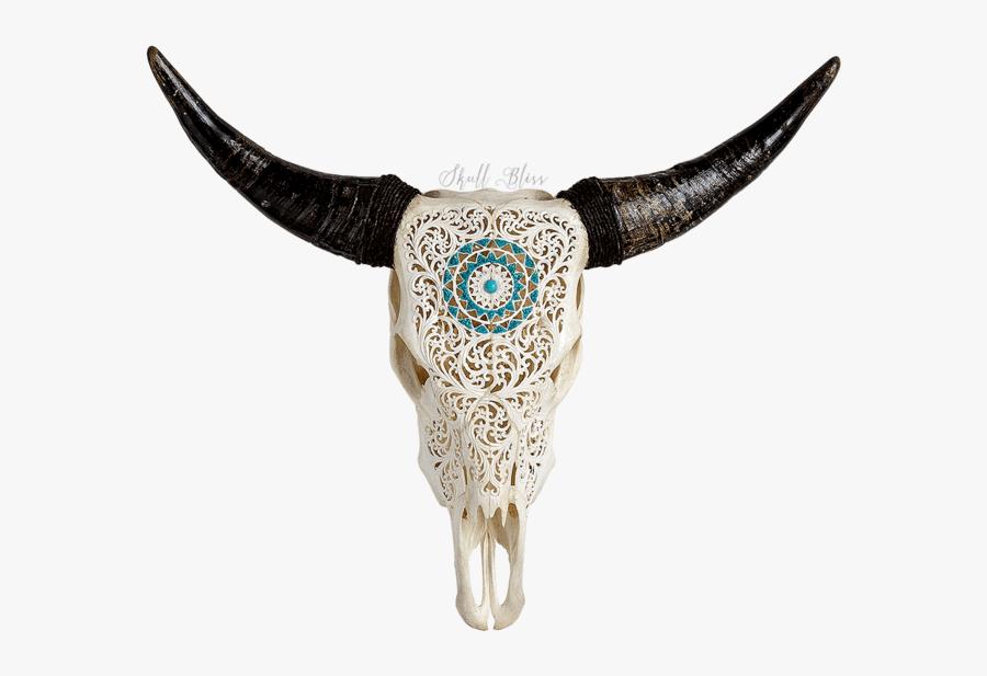 Skull Variant Skull Only - Carved Cow Skull, Transparent Clipart