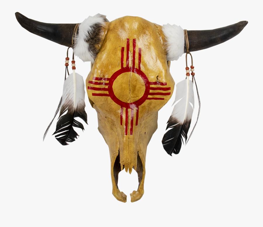 Painted Cow Skulls, Transparent Clipart