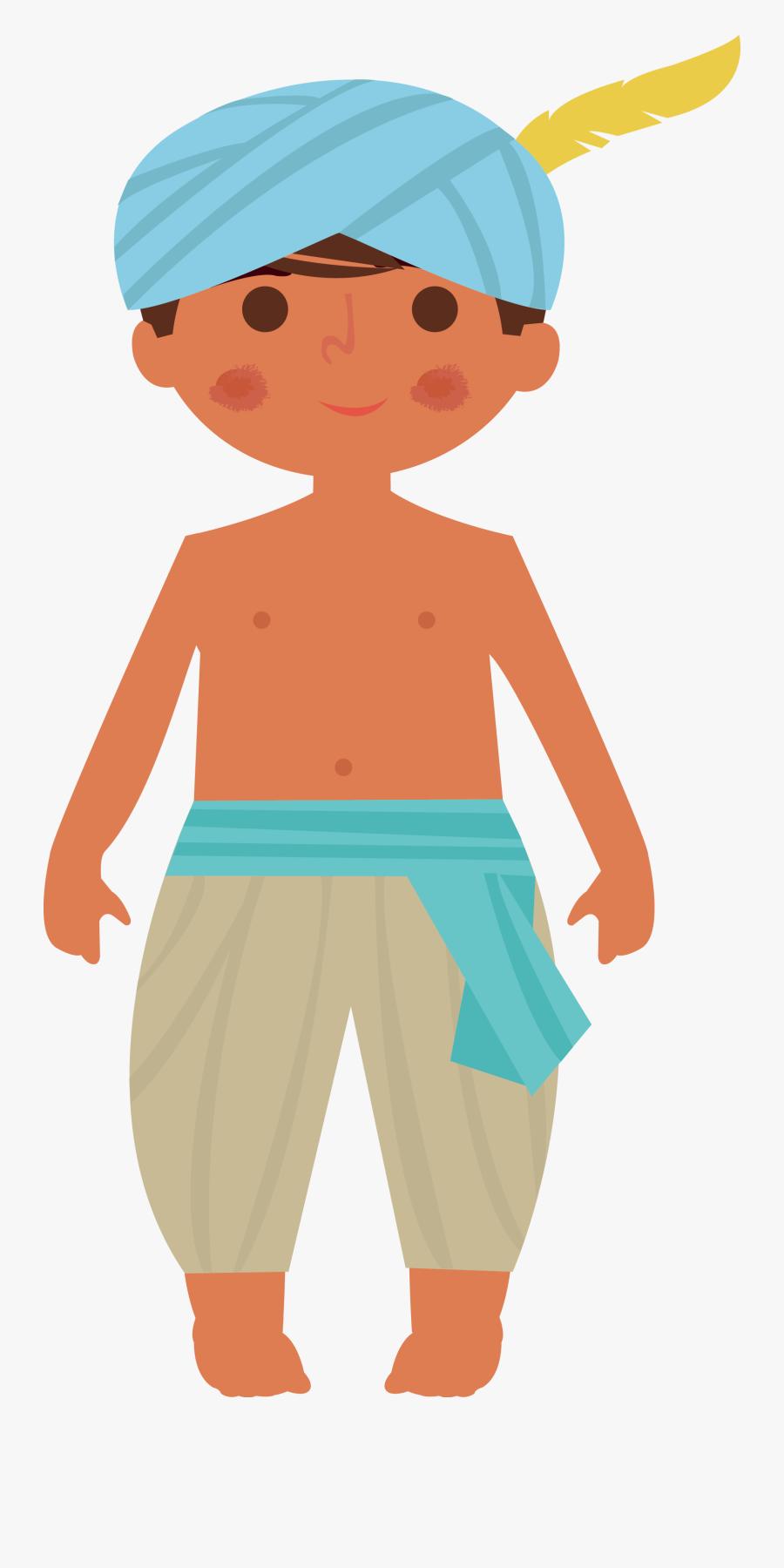 India Boy Illustration - Illustration, Transparent Clipart