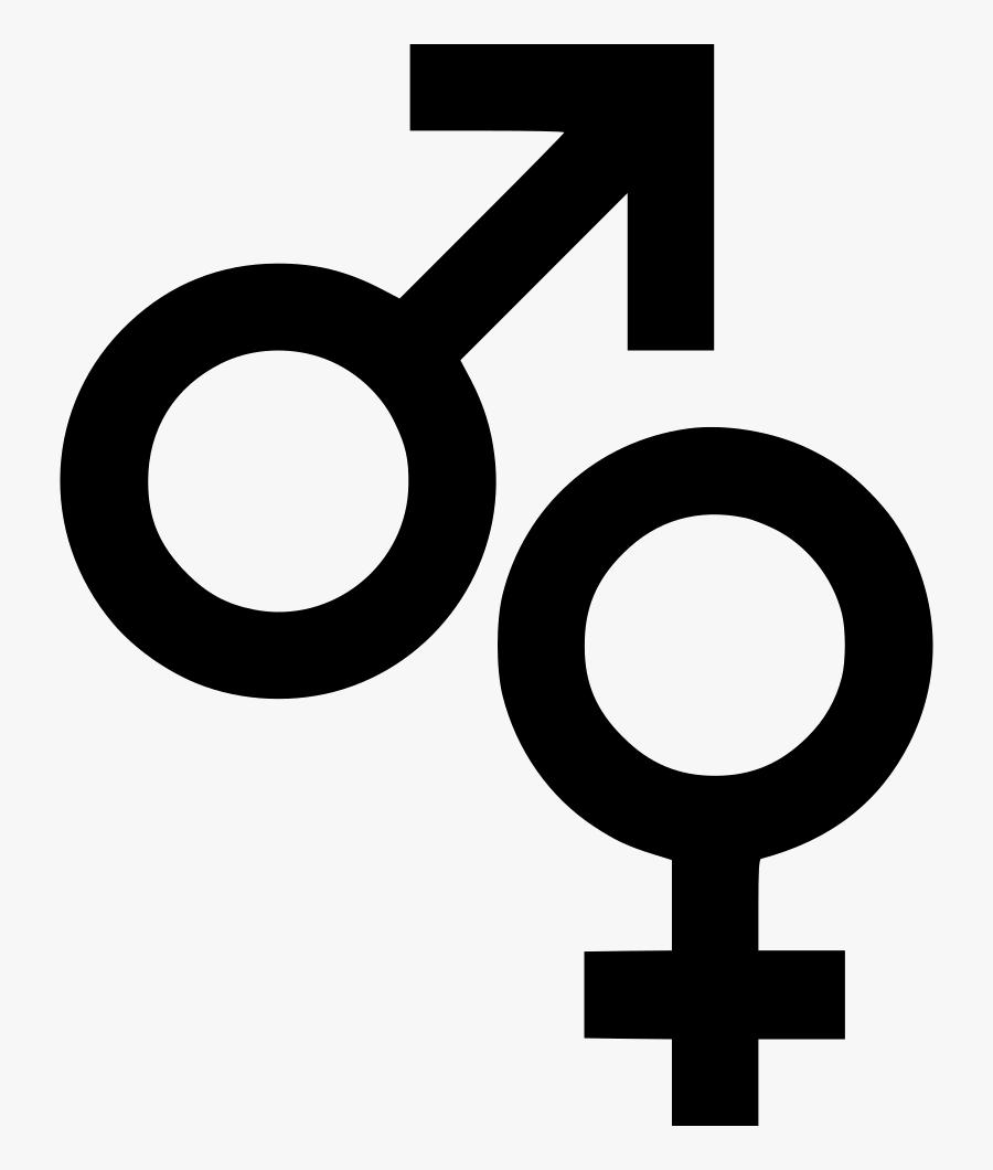 Male Female Symbols Sign Biology Comments - Female Male Symbol Png, Transparent Clipart