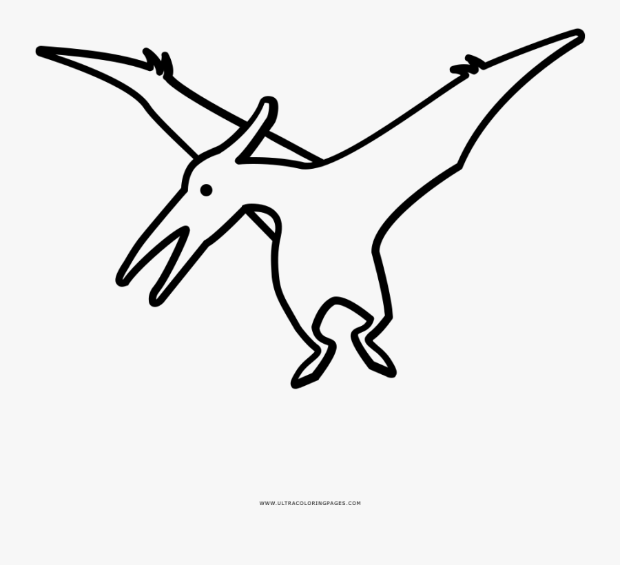 Trendy Pterodactyl Coloring Page Ultra Pages Free Dinosaur - Dinosaur Coloring Pages Pterodactyl, Transparent Clipart