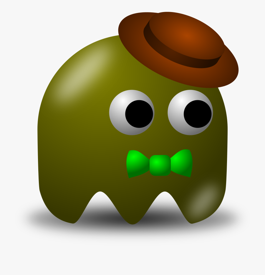 Pac Man Computer Free - Brown Pac Man Ghost, Transparent Clipart