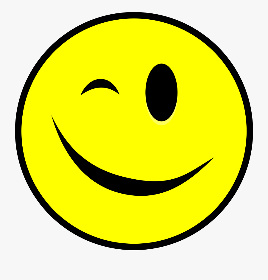 Smiley Emoticon Wink Computer Icons - Smiley Face Wink Png, Transparent Clipart