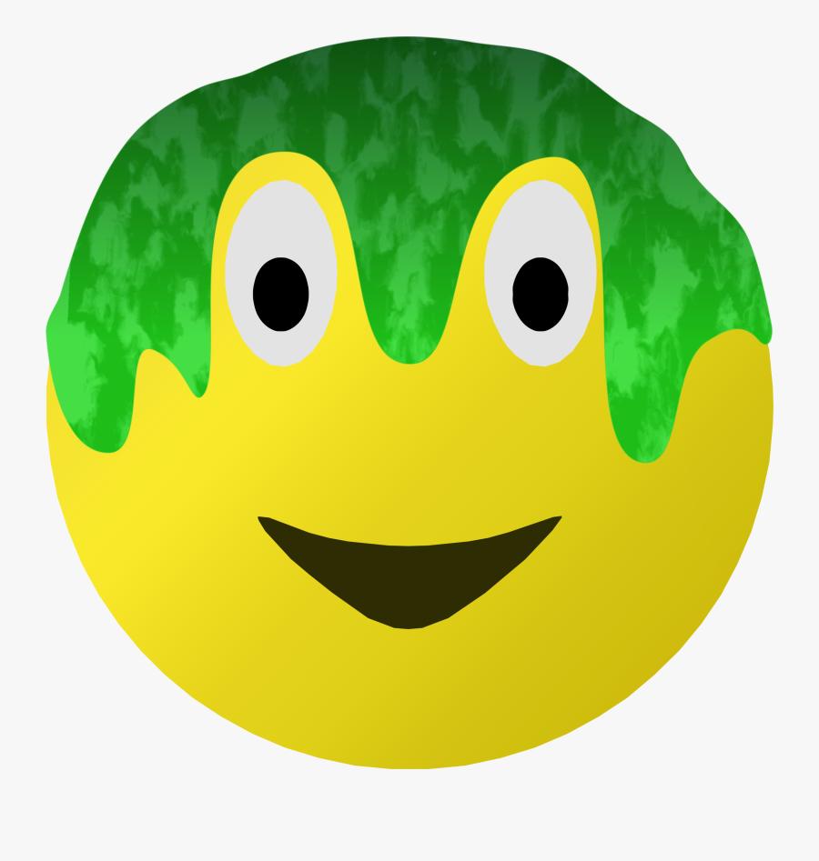 Slimed Smiley Clip Arts - Emoji Slime Png, Transparent Clipart