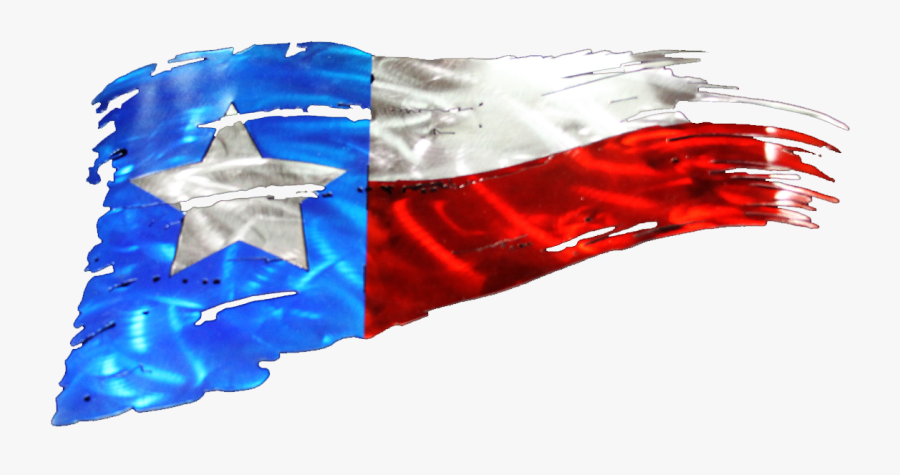 Tattered Texas Flag Metal Art - Tattered Texas Flag Decal, Transparent Clipart