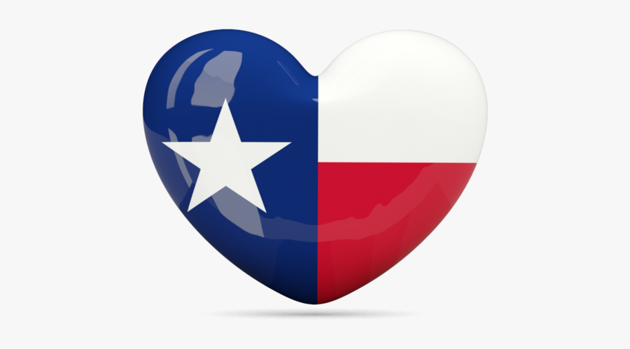Download Flag Icon Of Texas - Heart With Texas Flag, Transparent Clipart