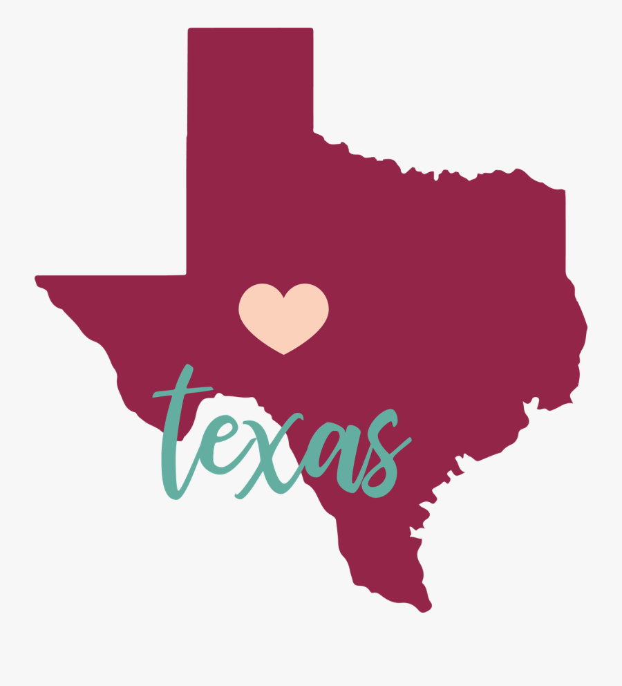Texas State Svg Cut File - Texas Map, Transparent Clipart