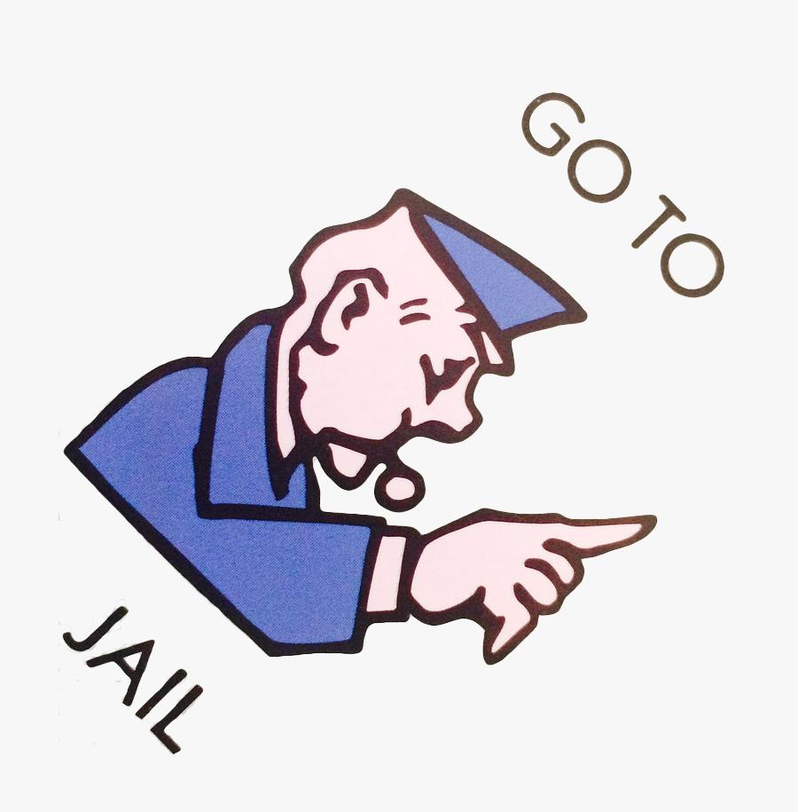 Go To Clip Art - Monopoly Go To Jail Transparent , Free Transparent Clipart - ClipartKey