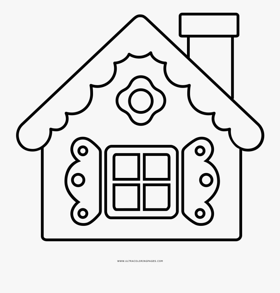 Coloring Pages Gingerbread House Coloring Sheets Free - Casinha Das Vogais, Transparent Clipart