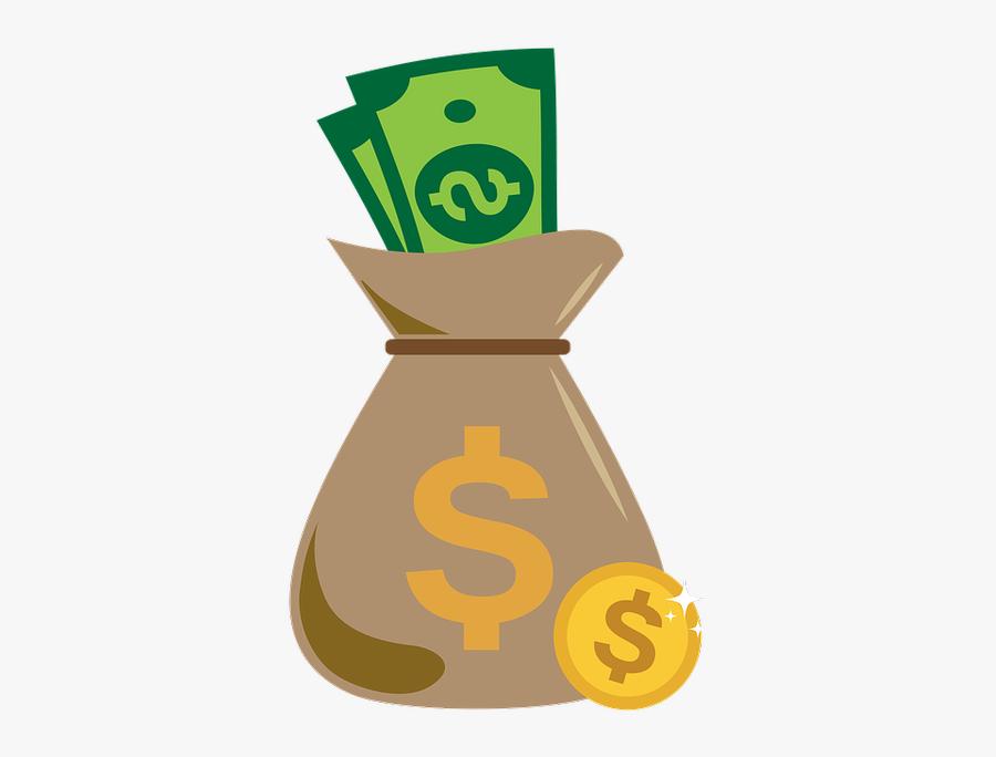 Games,money Bag,clip - Saco De Dinheiro Png, Transparent Clipart