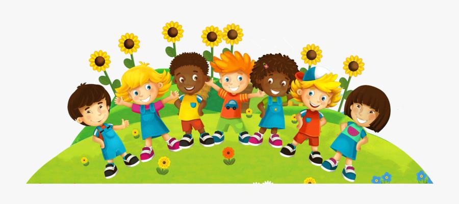 Friendly Clipart Play School Kid - Wall Mural For Preschool, Transparent Clipart