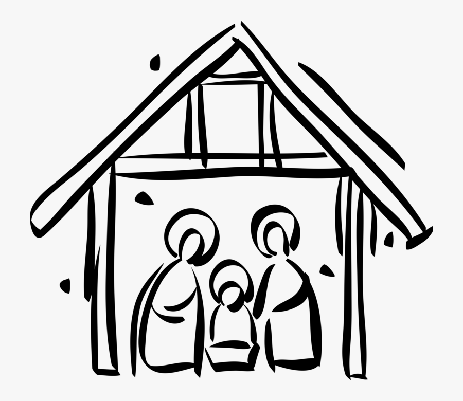 Vector Illustration Of Festive Season Christmas Nativity - Presépio De Natal Png, Transparent Clipart