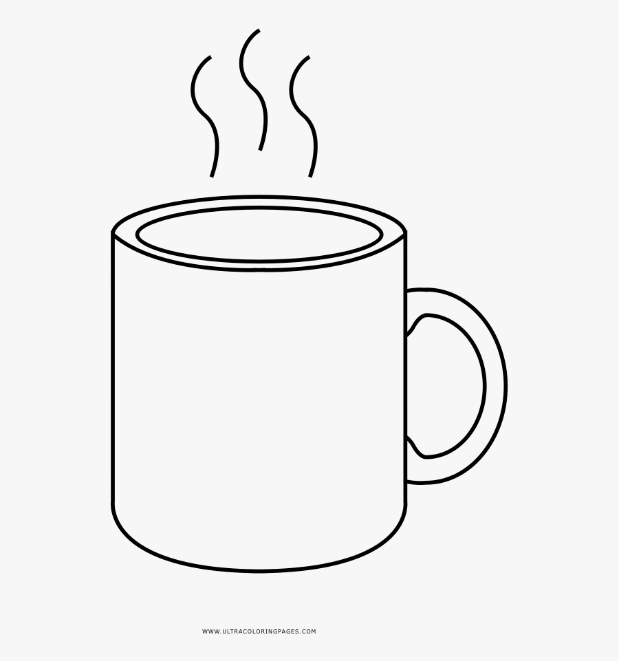 Lifetime Mug Coloring Page Printable Hot Cocoa Bltidm - Hot Chocolate Mug Colouring, Transparent Clipart