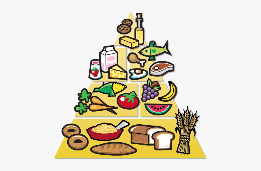 Healthy Food Free Clipart Clip Art On Transparent Png - Food Pyramid Easy Drawing, Transparent Clipart