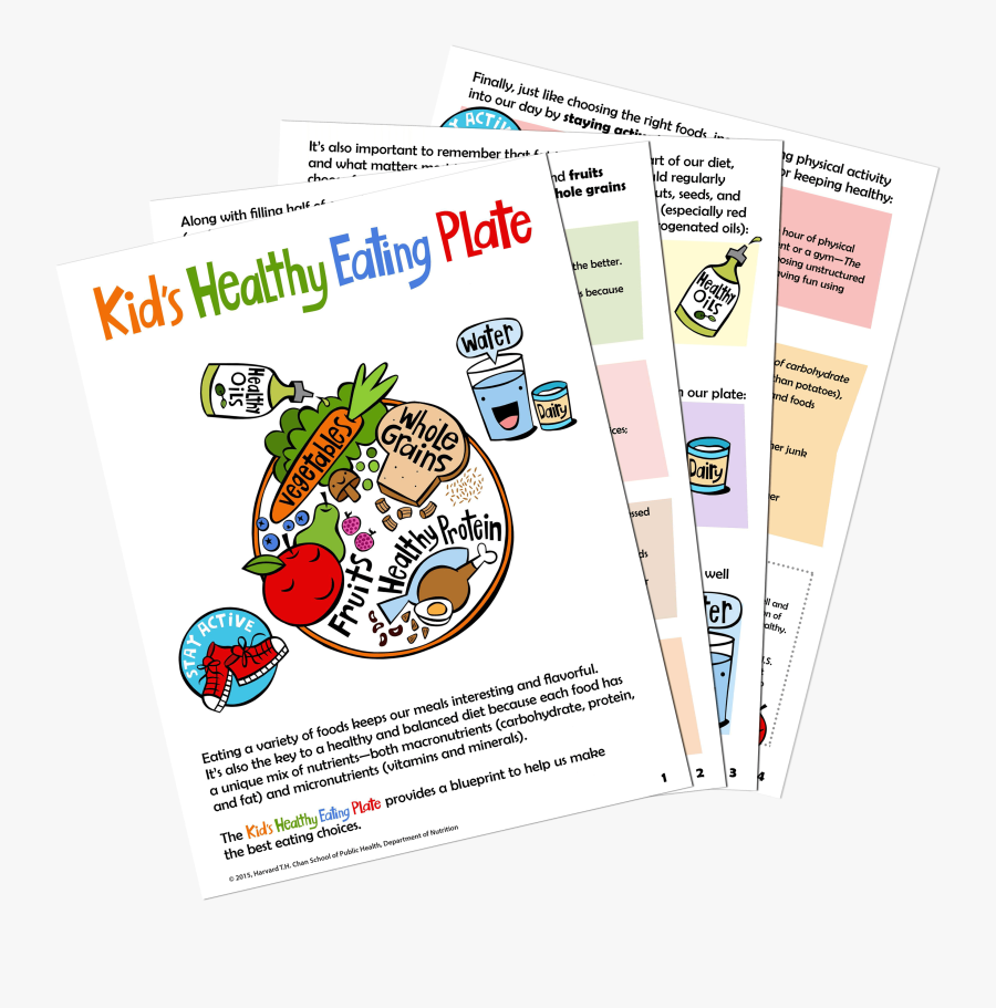 Clip Art Kid S Eating Plate - Kids Healthy Eating Plate, Transparent Clipart