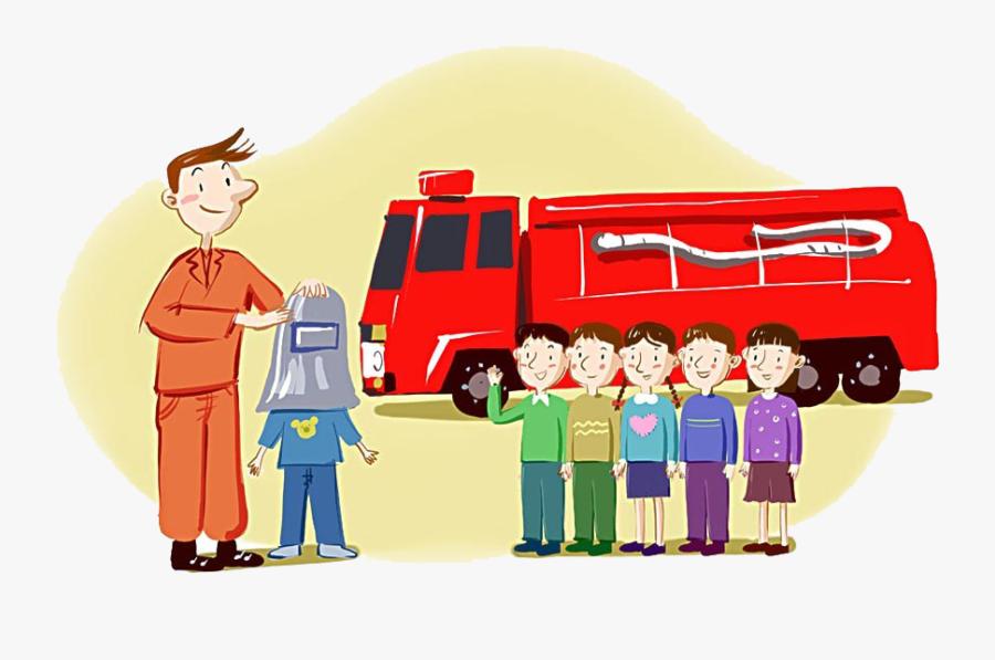 Firefighter Firefighting Clip Art - Cartoon, Transparent Clipart