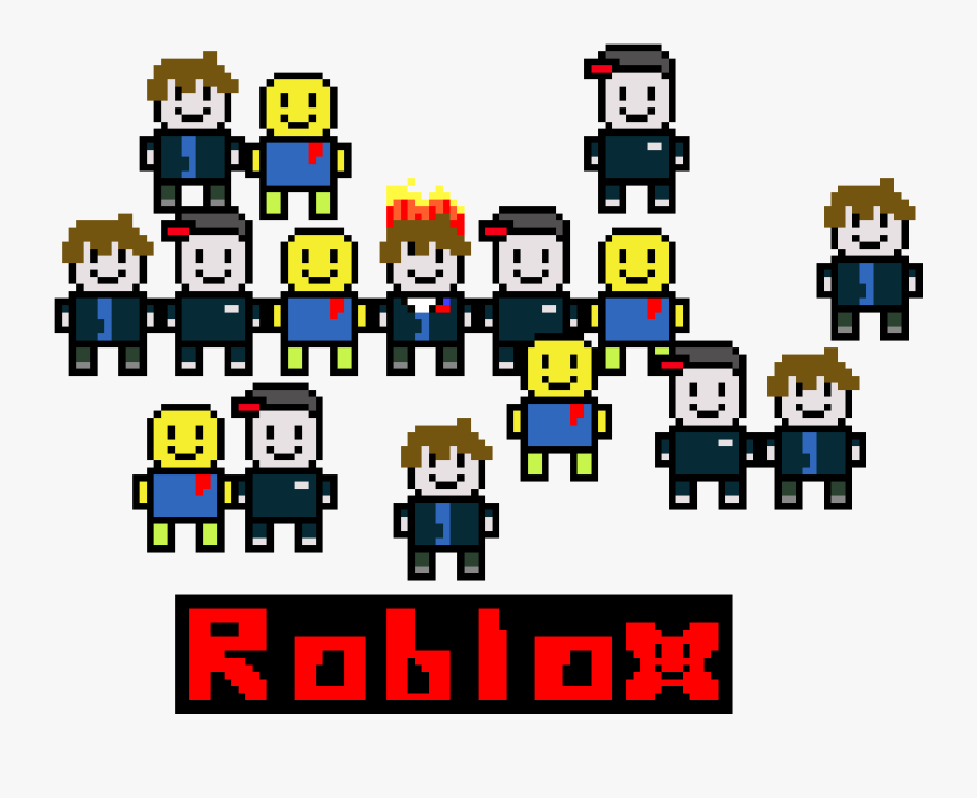 Roblox Guest Noob And Bacon Hair Free Transparent Clipart