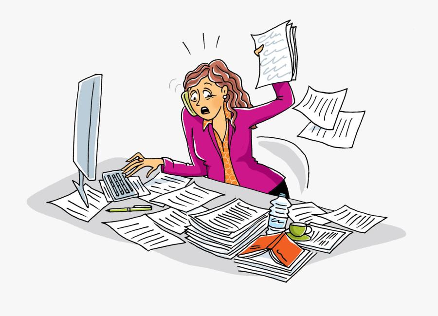 Pourquoi Tant De Stress Au Travail Personne Debordee Au Travail Free Transparent Clipart Clipartkey