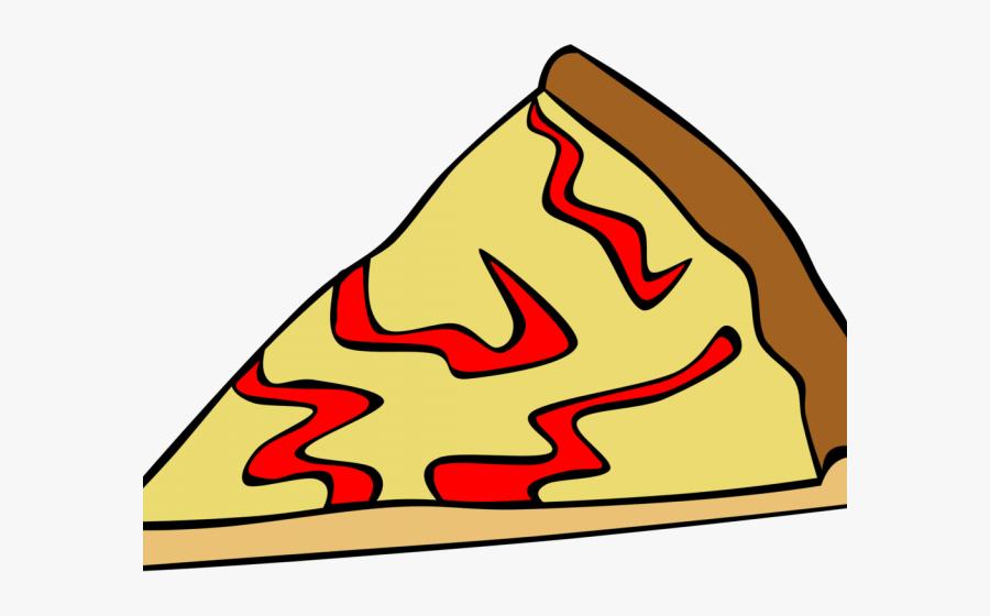 Cheese Pizza Slice Cartoon, Transparent Clipart