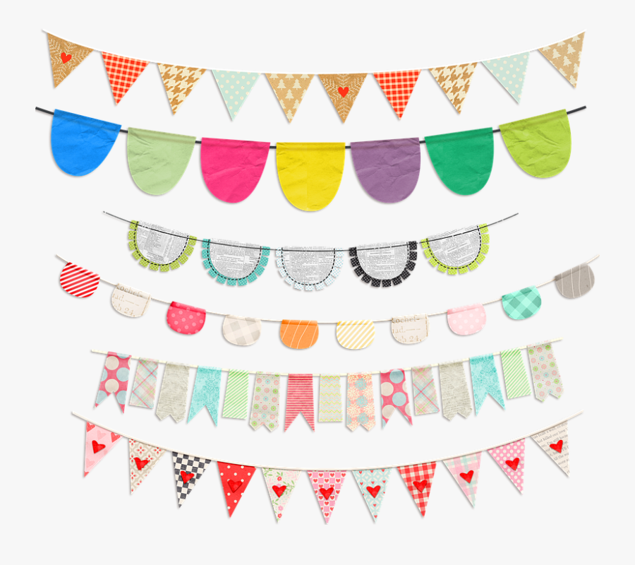 Bunting Clip Art, Flag, Banner, Bunting, Color - Bunting, Transparent Clipart