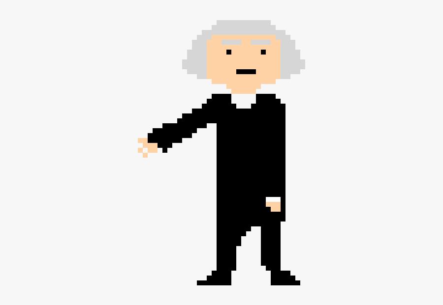 George Washington Pixel Art, Transparent Clipart
