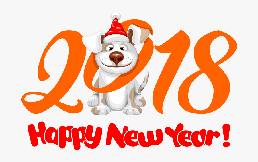 Dog Chinese New Year Happy New Year - Happy New Year 2018 Dog, Transparent Clipart