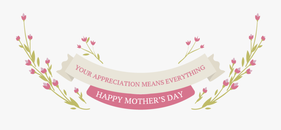 Transparent Banner Happy Mothers Day Banner, Transparent Clipart
