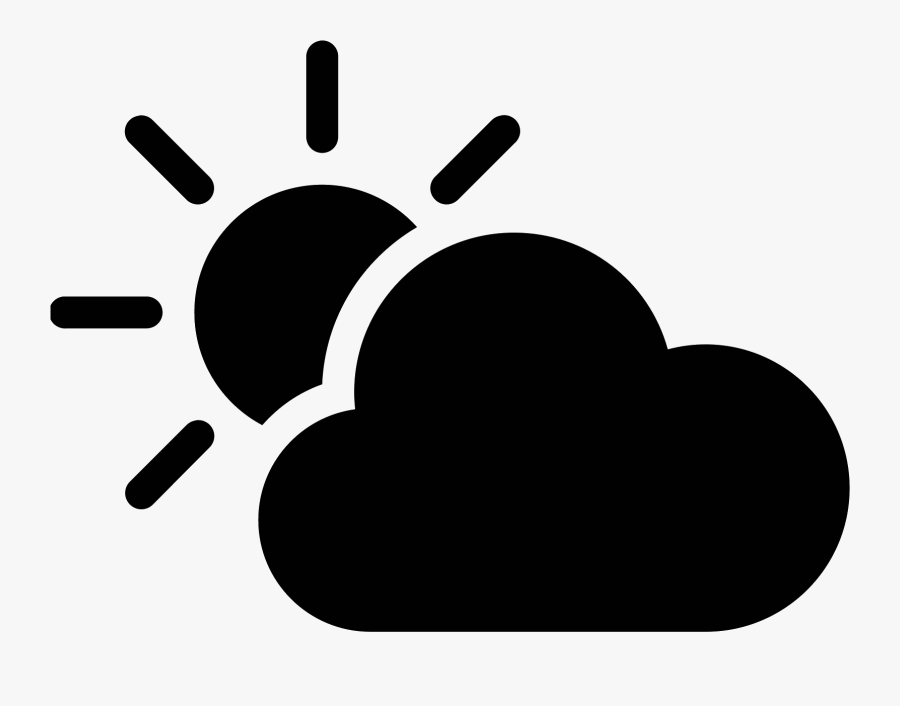 Cloudy Clipart Two Cloud - Samsung Weather Icon, Transparent Clipart