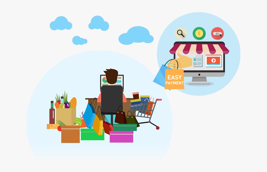 Easy Payment For Online Credit Card Terminal - Credit Card Instalment Plan Illustration, Transparent Clipart